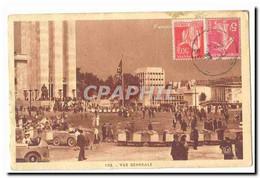 Paris CPA Exposition Internationale Paris 1937 Vue Generale (drapeau Nazi Train) - Exposiciones