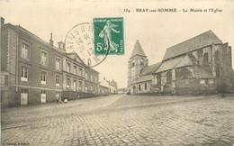 BRAY SUR SOMME - La Mairie Et L'église. - Bray Sur Somme