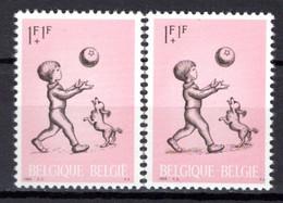 1399** V3 Petite Griffe Blanche Après La Surcharge - Neuf Sans Charnières - Cote 4,00 € - Abarten (Katalog Luppi)