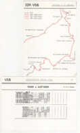 ° VOIRON à SAINT BERON - CHEMIN DE FER ° Train - Locomotive - Wagon ° LOT 2 Documents & 12 Cartes Postales ° - Trains