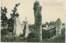 9. Ruines De L'Eglise De Souain Perthes Lès Hurlus -  Le Front De Champagne - Souain-Perthes-lès-Hurlus