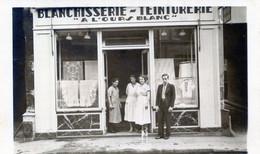 74  SAINT GERVAIS LES BAINS  CARTE PHOTO DE LA BLANCHISSERIE TEINTURERIE A L'OURS BLANC - Saint-Gervais-les-Bains