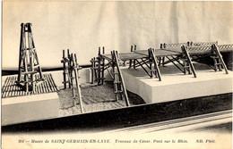 304- St-Germain En Laye - Travaux De César. Pont Sur Le Rhin - Musée De St. Germain En Laye - St. Germain En Laye (Kasteel)