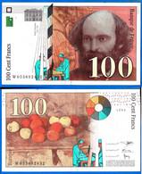France 100 Francs 1993 Cezanne Frcs Frs Frc Serie W Que Prix + Port Billet Paypal Bitcoin OK - 100 F 1997-1998 ''Cézanne''