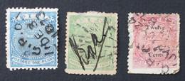 Fiji 1872 Two Six Twelve Cents - Fidji (...-1970)