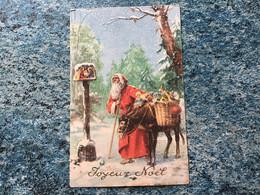 Carte Postale  Père Noël  âne Crèche Jouets Voir Photos - Santa Claus