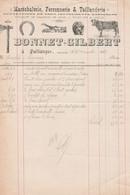 1931 - JULLIANGES - Maréchalerie, Ferronnerie & Taillanderie - BONNET-GILBERT - Historische Documenten