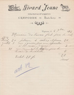 1914 - CRAPONNE - Maréchal-Forgeron - SIVARD JEUNE - - Historische Documenten