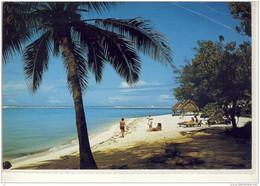 STORIA POSTALE FRANCOBOLLO COMMEMORATIVO COOK ISLANDS BEACH AND LAGOON RAROTONGAN HOTEL NICE STAMP CHRISTMAS - Cook Islands