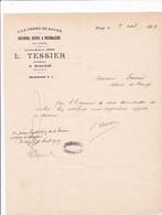 """49-L.Tessier."""" A La Ferme De Baugé """"...Beurre-Oeufs & Fromages....Baugé..(Maine-et-Loire)...1919 - Alimentare"""