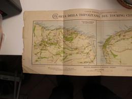 AFRICA Libia Carta Geografica Edizione DE AGOSTINI Novara  Cirenaica Tripolitania Touring Club Italiano Coloinie Italian - World