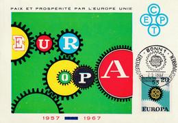 Carte Maximum -  Bonn - Paix Et Prospérité Par L'Europe Unie - Europa (2 Cartes) - Cartoline Maximum