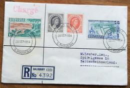 SOUTHERN RHODESIA -  REGISTERD FROM SALISBURY 20/9/1954 TO BERNE . SUISSE - Briefe U. Dokumente