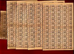 Lot Ticket Rationnement 100 Grammes De Pain Pour Militaire En Permission Ministère De L'Agriculture & Du Ravitaillement - 1914-18