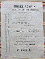 65 LOURDES  Musee Romain Pub Pastilles MALESPINE - Eintrittskarten