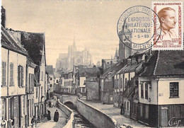 80 - AMIENS : La Rue Des Tanneurs - CPSM Dentelée Sépia Grand Format - Somme - Amiens