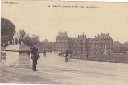 75. PARIS. CPA .RARETE. ANIMATION JARDINS & PALAIS  DU LUXEMBOURG. - Parks, Gärten