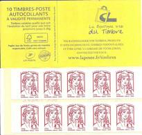 FRANCE - BOOKLET / CARNET, Yvert 851 C4- 2013 - Marianne De Ciappa, 10x TVP Red - Uso Corrente