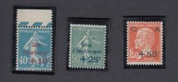 < France YT 246 / 248 .. Caisse D'amortissement .. Timbres Neufs Sana Charnières Ni Trace MNH SC ** .. Cote 70.00 € - Unused Stamps