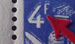 """R1098/133 - 1944 - TYPE IRIS - N°656  BLOC NEUFS** - VARIETE ➤➤➤ Double Impression Du """" 4f """" - Abarten: 1941-44 Ungebraucht"""