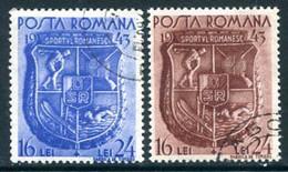 ROMANIA 1943 Sport Week Used.  Michel 775-76 - Usado