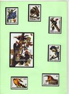 """République Centrafricaine 1993 - Série Complète """"Oiseaux Divers -JJ Audubon Neuf** MNH + 1 Bloc Oblitéré - Used - Otros"""
