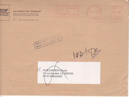 Enveloppe EDF Nogent Sur Seine Pour Sermaise (Essonne), Retour à L'envoyeur - EMA (Printer Machine)