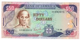 JAMAICA50DOLLARS01/08/1988P73UNC.CV. - Jamaica