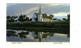 TRYON, Prince Edward Island, Canada, United Church, Older 4X6  Chrome Postcard - Andere