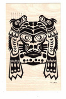 """British Columbia, Canada, Pacific North West Indian Motif """"Lizzard-Mask"""", Kwakiutl Indians, 1971 Chrome  Postcard - Unclassified"""