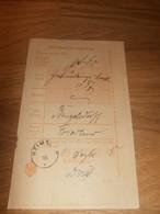 Post-Einlieferungsschein , 1895 , Begelsdorff I. Friedland I. Mecklenburg , Post !!! - Mecklenbourg-Strelitz