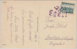 Sudetenland - Eger 1 Befreiungsstempel Karte N. Gersthofen 4.10.38 - Covers & Documents