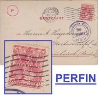 """Niederlande - 5 C Wilhelmine Perfin """"S&Z R"""" Zensurkarte Rotterdam Osnabrück 1916 - Non Classificati"""