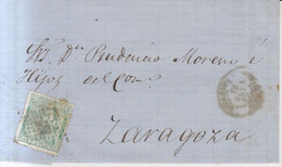 Año 1873 Edifil 133 10c Alegoria Carta Matasellos Rombo Tarazona Membrete Victor Fernandez - Cartas