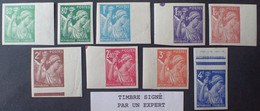 R1098/140 - 1944 - TYPE IRIS - SERIE COMPLETE - N°649 à 656 N.D. NEUFS** BdF - Timbres Signés (sauf N°649 Vert Foncé) - 1939-44 Iris