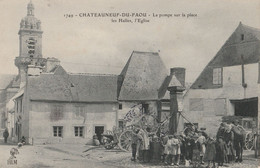 Chateauneuf-du-faou /29/ La Pompe Sur La Place .../ Réf:fm1669 - Andere Gemeenten