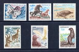 Monaco   Y&T   809 - 814   XX   ---   Protection Des Animaux  --  Impeccable. - Unused Stamps