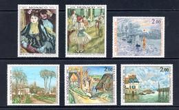 Monaco   Y&T   967 - 972   XX   ---   Impressionistes   --  Impeccable. - Unused Stamps