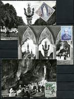 Monaco   Y&T   FDC 492 - 502   ---   Anniversaire Apparitions De Lourdes   --  Impeccable. - Cartoline Maximum