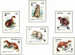 Polonia. Poland. 1984. Mi 2946 / 51. Protected Animals - Neufs