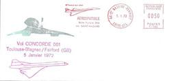 Concorde  Vol CONCORDE 001 Toulouse Blagnac-Fairford (GB) Le 5 Janvier 1972 - Concorde