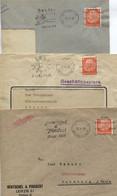 DR, Freistempel-Frankiermaschine, 3 Belege 1938/40, Leipzig, Rollenmarken M. Stichstellen - Covers & Documents