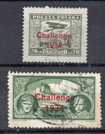 POLONIA 1934 Posta Aerea - N. 2 Francobolli Timbrati Sovrastampati In Serie Completa. - Lots & Kiloware (max. 999 Stück)