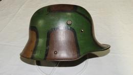 SUPERBE CASQUE ALL Md 1916 ( COULEURS D'ORGINE AVEC ENTRETOISES BOUCHEES ) !!! - 1914-18
