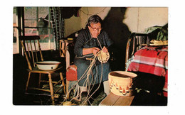 British Columbia, Canada, Indian Craft, 99 Year Old Matilda Jim Weaves Cedar-Root Baskets, Old Chrome  Postcard - Vancouver