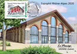 Expophil Rhône-Alpes 2020 -12 Et 13 Septembre - Vienne 38200 - Le Manège - Cachet Bureau Temporaire - PORT OFFERT - 2010-...