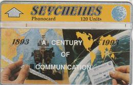 Seychelles, SEY-20b, A Century Of Telecommunications (309A), 2 Scans. - Seychellen