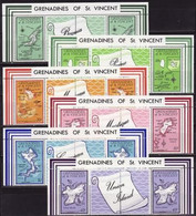 Grenadines And St. Vincent, 1974, Map Of The Island 6 Stripes - Aardrijkskunde