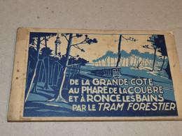 Carnet De 10 Cpa Du 17 Royan - De La Grande Côte Au Phare De La Courbe Et Ronce Les Bains Par Le Tram Forestier NOV20-24 - Royan