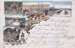 54  - Souvenir De NANCY - Multi Vues - Trés Trés Ancienne 1895 - Carte Allemande - Nancy